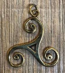 Anhänger - keltisch - Triskele - Bronze