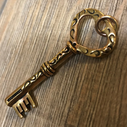 Anhänger - Schlüssel groß - Bronze