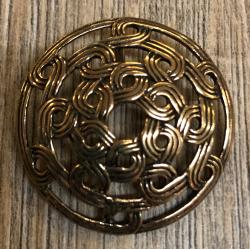 Anhänger - keltisch - Schild aus Flechtmustern durchbrochen - Bronze