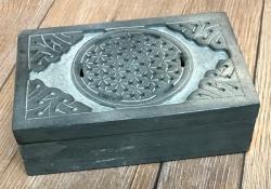 Truhe Speckstein - Blume des Lebens/ Keltischer Knoten 2  - Schatz Aufbewahrung Versteck