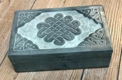 Truhe Speckstein - Keltischer Knoten - Schatz Aufbewahrung Versteck
