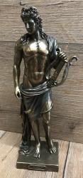 Statue - Apollo mit Lyra - griechischer Sonnengott - bronziert/ coloriert - Dekoration - Ritualbedarf
