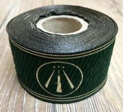33 Borte AWEN OBOD- Druiden Symbol - 33mm breit - 5m Rolle - grasgrün/ gold - OBOD ADF Druiden
