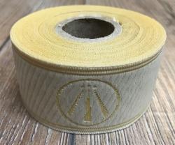 33 Borte AWEN OBOD- Druiden Symbol - 33mm breit - 5m Rolle - creme/ gold - OBOD ADF Druiden