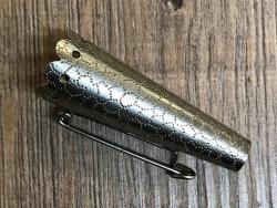 Brosche - Schmuckhülse für Federn gerippt - 4,5cm (15mm) - Ausverkauf