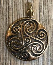 Anhänger - keltisch - Triskele Amulett massiv - Bronze