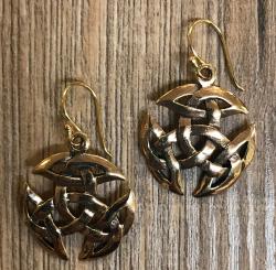 Ohrringe - Ohrhänger keltisch - offene Dreifaltigkeit - Bronze - Ausverkauf