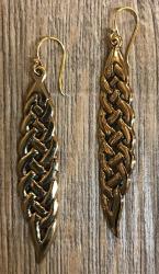 Ohrringe - Ohrhänger keltisch - lang - Bronze