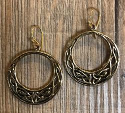 Ohrringe - Ohrhänger keltisch - Lunula - Bronze