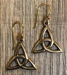 Ohrringe - Ohrhänger keltisch - Triquetra - Bronze