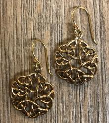 Ohrringe - Ohrhänger keltischer Knoten rund offen - Bronze