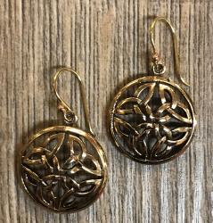 Ohrringe - Ohrhänger keltischer Knoten rund B - Bronze