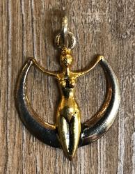 Anhänger - Göttin Diana - Bronze, teilversilbert
