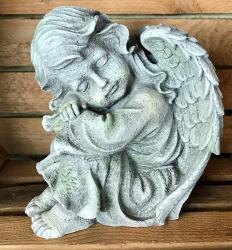 Gartenstatue - Engel - Mädchen, Kopf links (in & outdoor) - NEU