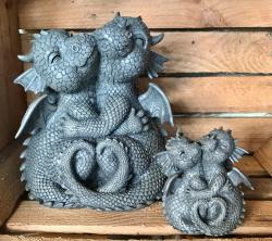 Gartenstatue - Drache Glücksdrache Pärchen Loving Dragons - klein (in & outdoor)