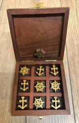 Maritimes - Spiel Tic Tac Toe - Anker & Steuerrad