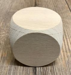 Holz Würfel XXL aus Buchenholz unlackiert - 6cm x 6cm x 6cm
