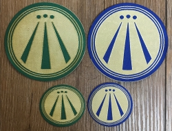 Aufnäher Patch Aufkleber - gewebt - AWEN - blau - 9cm