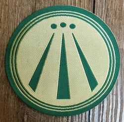 Aufnäher Patch Aufkleber - gewebt - AWEN - grün - 9cm