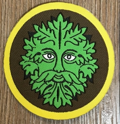 Aufnäher Patch Aufkleber - gewebt - Waldgeist - 8cm