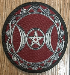 Aufnäher Patch Aufkleber - gewebt - Goddess Pentagram - 8cm