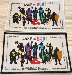Aufnäher - LARP ist BUNT für Vielfalt & Toleranz - schwarz