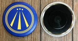 Magnet 59mm - AWEN - Druiden Symbol - blau