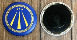 Magnet 59mm - AWEN - OBOD Druiden Symbol - blau