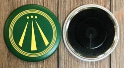 Magnet 59mm - AWEN - OBOD Druiden Symbol - grün