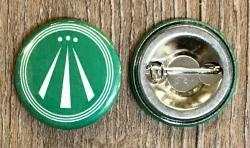 Button 25mm - AWEN - Druiden Symbol - grün