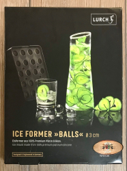 Lurch - ICE Former Ball 3cm - schwarz/ transparent