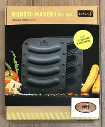 Lurch - Wursti-Maker 148x173mm 2er Set für 8 Würstchen - iron grey