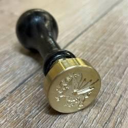 Siegel - Motiv Drachen III Walisischer - 24mm - inkl. Griff