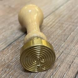 Siegel - Motiv Labyrinth - 24mm - inkl. Griff