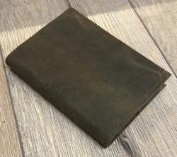 Notizbuch - Diary - Lederhülle  mit eingestecktem Buch & handgeschöpftem Papier Größe 1 - 10,5cm x 15cm - braun