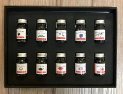 Schreibzeug - J. Herbin Schatulle mit 10 verschiedenen Tinten a 10ml - insgesamt 100ml