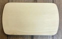Holz Brett - Frühstücksbrett aus Ahorn, rechteckig, abgerundete Ecken, natur - individuelle Lasergravur möglich