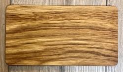 Holz Brett - Frühstücksbrett aus Eiche, rechteckig, abgerundete Ecken, geölt - individuelle Lasergravur möglich