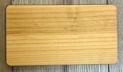 Holz Brett - Frühstücksbrett aus Kirsche, rechteckig, abgerundete Ecken, geölt - individuelle Lasergravur möglich