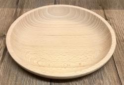 Holz Schale - Buche natur - 17cm x 2,6cm - individuelle Gravur möglich