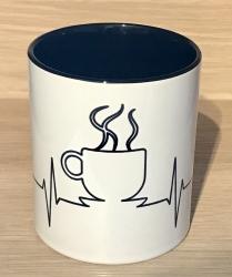 Tasse - Coffee Heartbeat - intone schwarz
