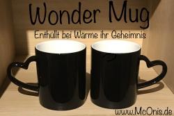 Tasse - Wunschmotiv - Wondermug Farbwechsel schwarz mit Herzhenkel