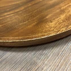 Holz Teller - Akazienholz rund - 30cm Durchmesser