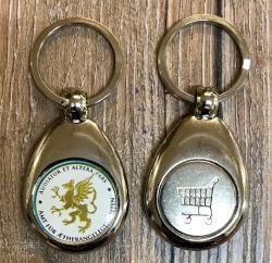 Schlüsselanhänger - Metall inkl. Einkaufswagenchip - Motiv Amt für Aetherangelegenheiten