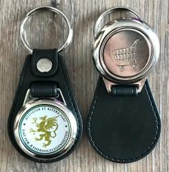 Schlüsselanhänger - Metall & Kunstleder inkl. Einkaufswagenchip - Motiv Amt für Aetherangelegenheiten