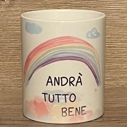 Tasse - Andrà tutto bene - Alles wird gut! - Keramik - verschiedene Farben