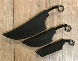 Messer - Glen geschmiedet mit Lederscheide, keltisch - klein