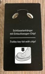 Schlüsselanhänger - Metall & Kunstleder inkl. Einkaufswagenchip - Motiv OBOD AWEN - weiss
