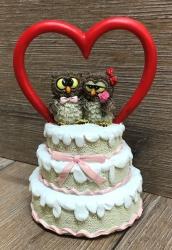 Figur - Lustige Eule Hochzeitstorte mit Eulenpaar  - Ausverkauf