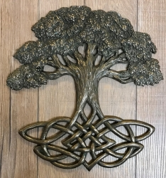 Plaque - Wandtafel - Lebensbaum/ Tree of Life  - bronziert